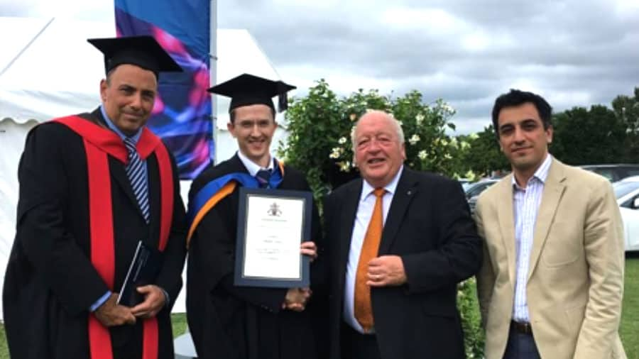 Alasdair Harris wins EFESO Consulting prize for best thesis