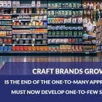 Craft brands are progressing more than private labels and national brands